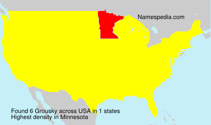 Surname Grousky in USA