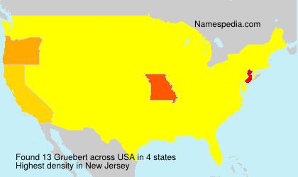 Surname Gruebert in USA