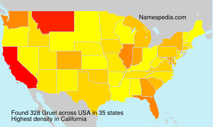 Surname Gruel in USA