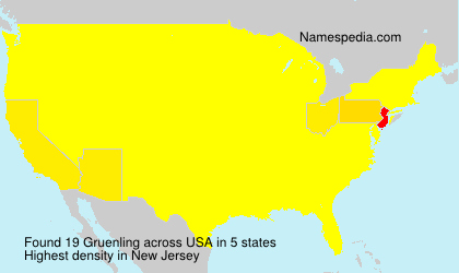 Surname Gruenling in USA