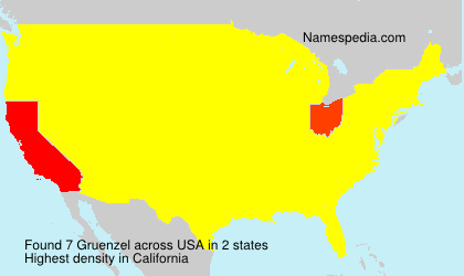 Surname Gruenzel in USA