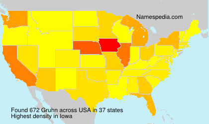 Surname Gruhn in USA