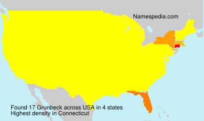 Surname Grunbeck in USA