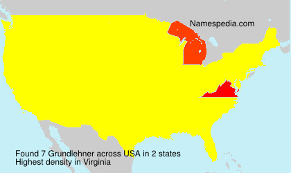 Surname Grundlehner in USA