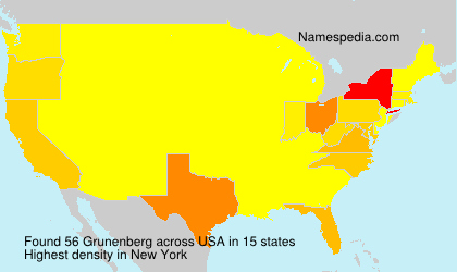 Surname Grunenberg in USA