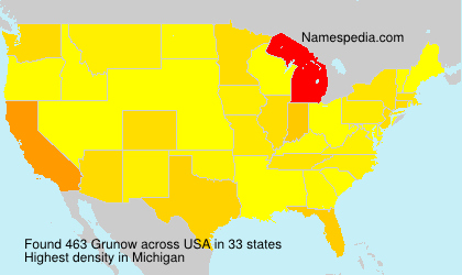 Surname Grunow in USA