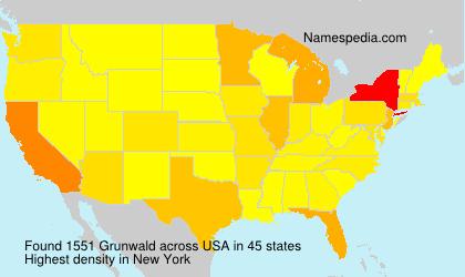 Surname Grunwald in USA