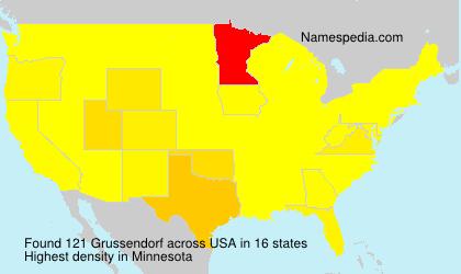 Surname Grussendorf in USA