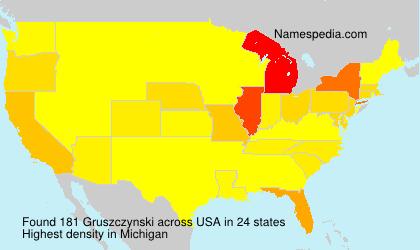 Familiennamen Gruszczynski - USA