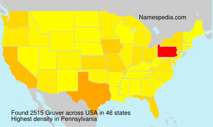 Surname Gruver in USA