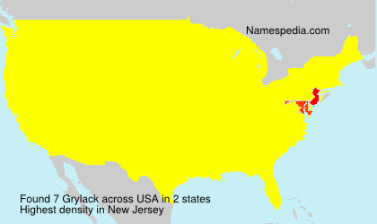 Surname Grylack in USA