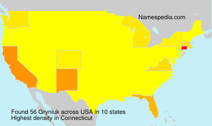 Familiennamen Gryniuk - USA