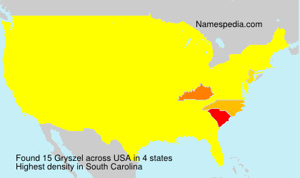 Surname Gryszel in USA