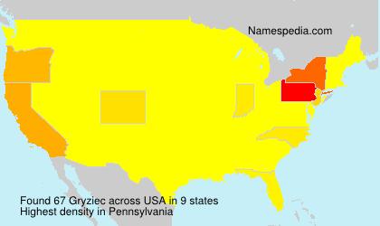 Surname Gryziec in USA