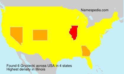 Surname Gryziecki in USA