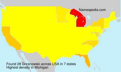 Surname Grzanowski in USA