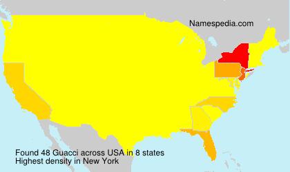 Surname Guacci in USA