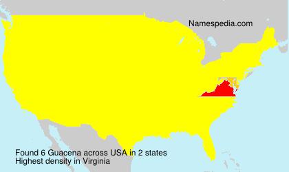 Familiennamen Guacena - USA