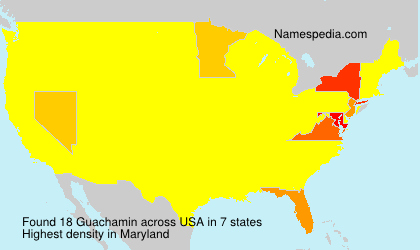 Surname Guachamin in USA