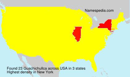 Familiennamen Guachichullca - USA