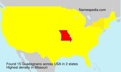 Familiennamen Guadagnano - USA