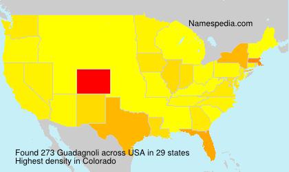 Surname Guadagnoli in USA