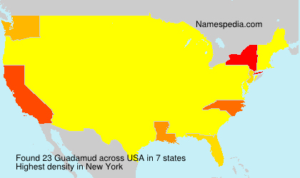 Surname Guadamud in USA