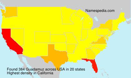 Familiennamen Guadamuz - USA
