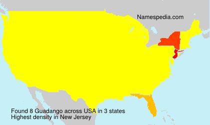 Surname Guadango in USA