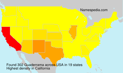 Familiennamen Guaderrama - USA