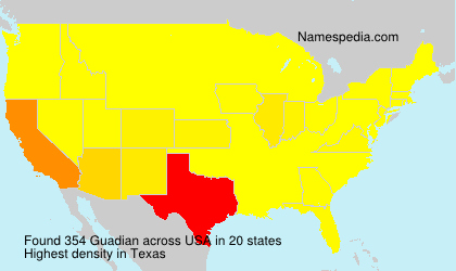 Surname Guadian in USA