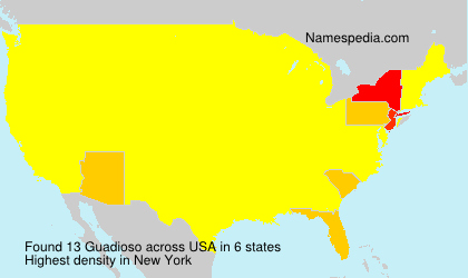 Surname Guadioso in USA