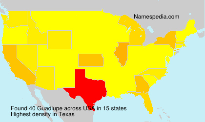 Surname Guadlupe in USA