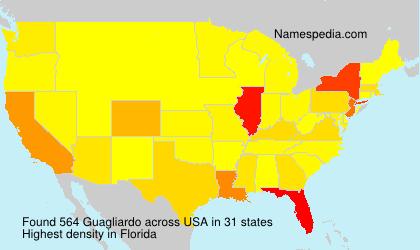 Surname Guagliardo in USA