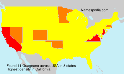 Surname Guagnano in USA