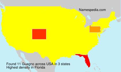 Familiennamen Guagno - USA