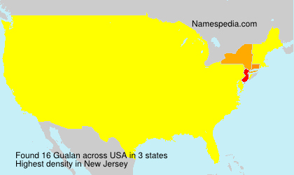 Surname Gualan in USA