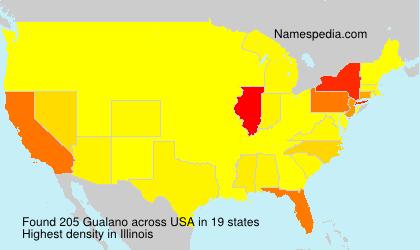 Familiennamen Gualano - USA