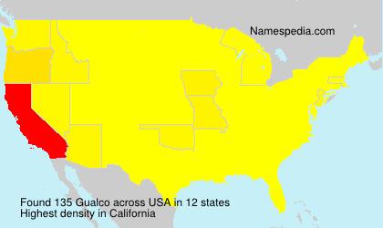 Surname Gualco in USA