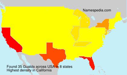 Surname Gualda in USA