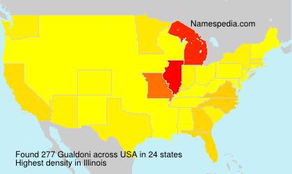 Surname Gualdoni in USA