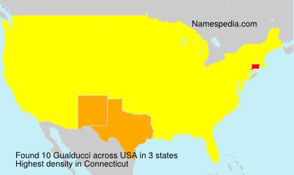 Surname Gualducci in USA