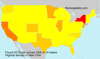 Surname Guale in USA