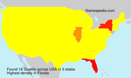 Surname Gualillo in USA