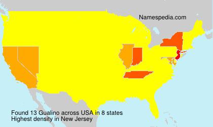 Familiennamen Gualino - USA