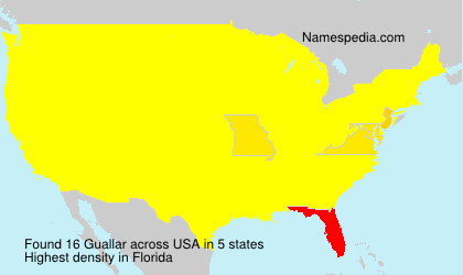 Surname Guallar in USA