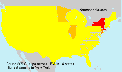 Surname Guallpa in USA