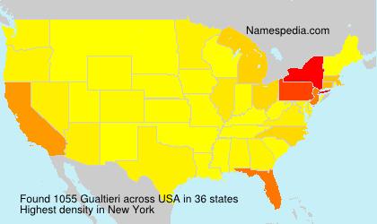 Surname Gualtieri in USA