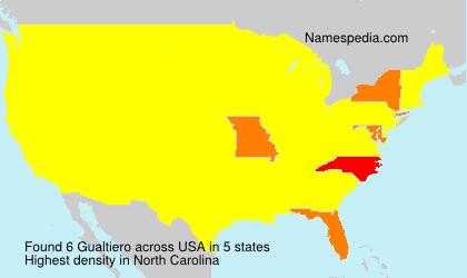 Familiennamen Gualtiero - USA