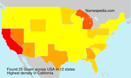 Surname Guam in USA